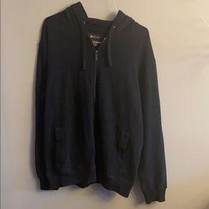 Be spoke black hoodie zip up